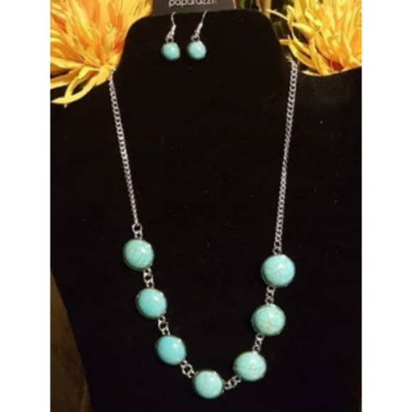 paparazzi Jewelry - Adobe Attitude Blue Paparazzi Necklace